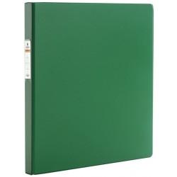 Папка с пружинным скоросшивателем BRAUBERG ПВХ, 35мм, зеленая (228339)