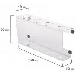 Держатель магнитный для доски (85х160 мм), прозрачный акрил, BRAUBERG, 235530