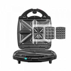 Мультипекарь Redmond RMB-M731/3 Black 1400Вт, 3 вида панелей в комплекте