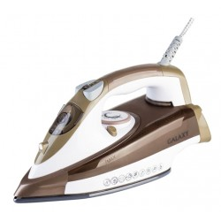 Утюг Galaxy GL 6122 White/brown (2400Вт,320мл,паровой удар 200г/мин,керамика)