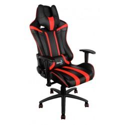 Кресло игровое Aerocool Aerocool AC120 AIR-BR экокожа, механизм качания, регул. высоты/наклона, Black/Red