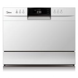 Посудомоечная машина Midea MCFD55500W White 1800Вт отдельно стоящая,класс A+,расход воды 6,5 л,сушка,8 программ,43,8x50x55 см