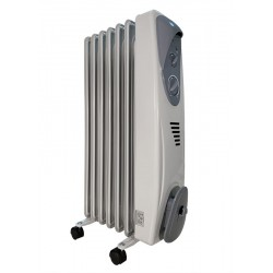 Масляный радиатор General Climate NY 23AR 2300Вт, 23кв.м, 11 секций, регул. мощ. напольный, термостат.
