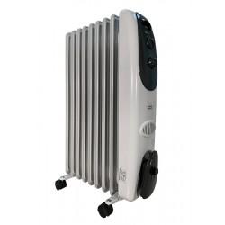 Масляный радиатор General Climate NY 18LA 1800Вт, 18кв.м, 9 секций, регул. мощ. напольный, термостат.