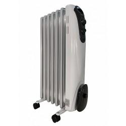 Масляный радиатор General Climate NY 10M 1000Вт, 10кв.м, 6 секций, регул. мощ. напольный, термостат.