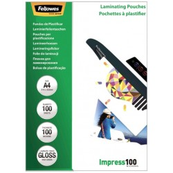 Пленка для ламинирования А4, 100мкм,  Fellowes, 100 шт (FS-53511)