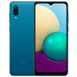 """Смартфон Samsung Galaxy A02 SM-A022 Синий 2sim/6.5""""/1600*720/4х1.5ГГц/2Gb/32Gb/mSD/13+2МП/And10/5000mAh"""