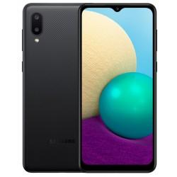 """Смартфон Samsung Galaxy A02 SM-A022 Черный 2sim/6.5""""/1600*720/4х1.5ГГц/2Gb/32Gb/mSD/13+2МП/And10/5000mAh"""