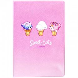 """Обложка для паспорта MESHU """"Sweet cats"""" MS 34137"""