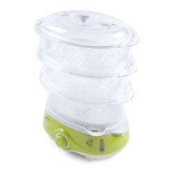 Пароварка Endever Vita-171 Белый/зеленый 1000Вт,  3 яруса, 11л., пластик