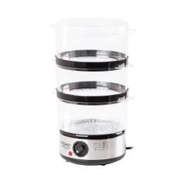 Пароварка Endever Vita-173 Черный/серый 600Вт,  3 яруса, 6л., пластик