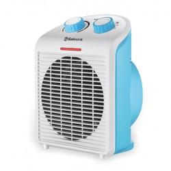 Тепловентилятор Sakura SA-0513WBL Белый/Синий 2000Вт, 25кв.м, электроспираль, вентилятор