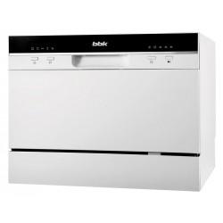 Посудомоечная машина BBK 55-DW011 White 1380Вт, отдельно стоящая, расход воды 6,5л, 5 прог., 55х50х44
