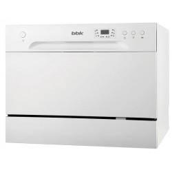 Посудомоечная машина BBK 55-DW012D White 1380Вт, отдельно стоящая, расход воды 6,5л, 6 прог., 55х50х44