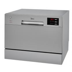 Посудомоечная машина Midea MCFD55320S Silver 1380Вт, отдельно стоящая, расход воды 9,5л, 6 прог., 55x50x44