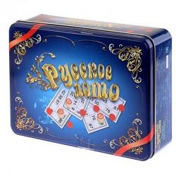 """Игра настольная Лото, Десятое королевство, """"Русское лото"""", жестяная коробка (01780)"""