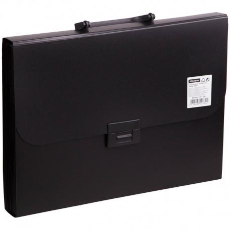 Папка-портфель пластиковый, 13 отделений, Спейс, черный F13P1 336