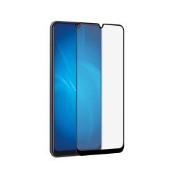 Защитное стекло для Samsung Galaxy A20/A30/A50 с цветной рамкой (fullscreen) (DF sColor-66) (black)
