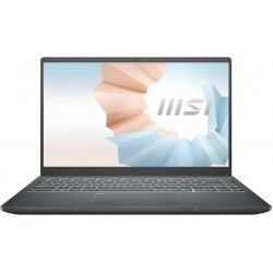 """Ноутбук MSI Modern 14 Intel Core i7-1165G7 2.8GHz,14"""" FHD (1920x1080) IPS AG,8Gb DDR4-3200(1),512Gb SSD,52Wh,Kbd Backlit,1.3kg,1y,Carbon Grey,Win10 (B11MO-062RU-GG71165U8GXXDX10SH) 9S7-14D314-062"""