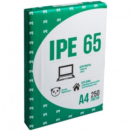 Бумага писчая 250л А4 65г/м2 IPE-65 белизна 96% (110191)