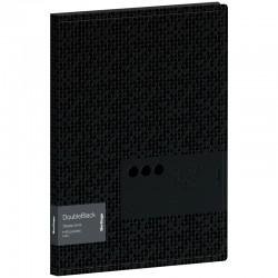 """Папка с 40 вкл. BERLINGO """"DoubleBlack"""" черная, с внутр. карманом (DB4 20701)"""