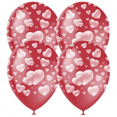 "Шар воздушный 30см, ""Cherry Red Сердца"", 25шт (40932)"