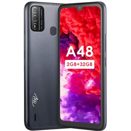 "Смартфон Itel A48 L6006 Gradation Black 2sim/6.1""/1560*720/4*1.4ГГц/2Gb/32Gb/mSD/5Мп/And10Go/3000mAh"