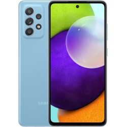 "Смартфон Samsung Galaxy A52 128GB SM-A525F Синий 2sim/6.5""/2400*1080/2х2.3ГГц+6x1.8ГГц/4Gb/128Gb/mSD/64+12+5+5МП/NFC/And10/4500mAh"
