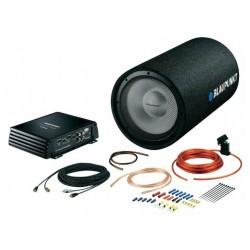 """Сабвуфер автомобильный BLAUPUNKT BassPack 2011 Tube 150/450Вт, 2Ом, 40-500Гц, 8"""", 87дБ, пассивный + усилитель и набор подключения"""