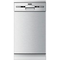 Посудомоечная машина BBK 45-DW119D Silver 2100Вт, отдельно стоящая, расход воды 9л, 7 прог., 45х60х85
