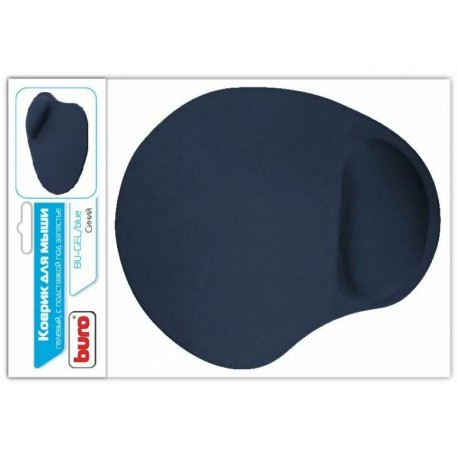 Коврик для мыши Buro BU-GEL артопедический, нейлон (225x190x2) Blue