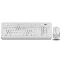 Комплект (клавиатура+мышь) A4Tech Fstyler FG1010 радиус действия до 15м,White беспроводной