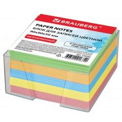 Блок для записей BRAUBERG 9*9*5см. в подставке, цветной (122226)