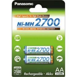 Аккумуляторы Ni-MH AA Panasonic BK-3HGAE/2BE 2700mAh/1.2в блистер 2 шт.
