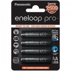 Аккумуляторы Ni-MH AA Panasonic eneloop pro BK-3HCDE/4BE 2500mAh/1.2в, блистер 4 шт.