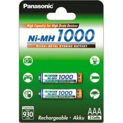 Аккумуляторы Ni-MH AAA Panasonic BK-4HGAE/2BE 1000мАч/ блистер 2шт