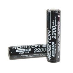 Аккумулятор Li-ion ROBITON 18650 2200mAh /без защиты/3.7в