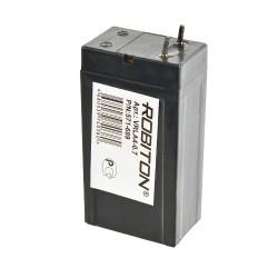 Аккумулятор свинцовый Robiton VRLA4-0.7, 4в, 0.7Ач, 22*34*70
