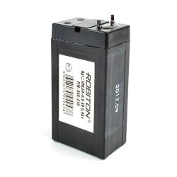 Аккумулятор свинцовый Robiton VRLA4-0.9, 4в, 0.9Ач, 22*34*70