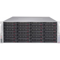 """Supermicro Storage JBOD Chassis 4U 847E1C-R1K23JBOD Up to 44 x 3.5"""" (24 front + 20 rear)/Expander Backplanes(4xminiSASHD SFF-8644)"""
