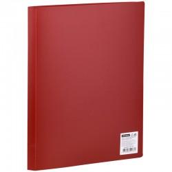 Папка с 10 вкл. Спейс 9мм. 400мкм. красная (F10L3 276)