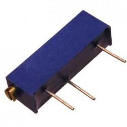 Резистор подстроечный 3006P,  10кОм, 0.75вт, 10%, 5400°, 6.35*4.83*19мм, угловой