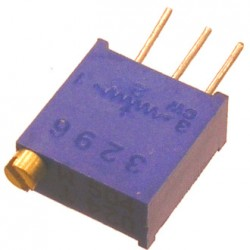 Резистор подстроечный 3296W,   2.2кОм, 0.5вт, 10%, 9000°, 9.53*4.83*10мм, СП5-2ВБ
