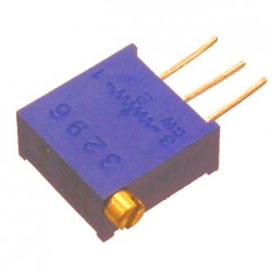 Резистор подстроечный 3296X, 330кОм, 0.5вт, 10%, 9000°, 9.53*4.83*10мм, угловой, СП3-19Б