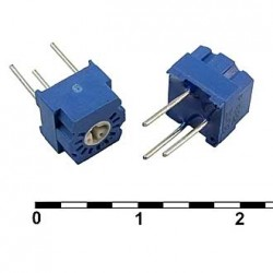 Резистор подстроечный 3323P,   1кОм, 0.5вт, 10%, 250°, 7*7*6мм, СП3-19А