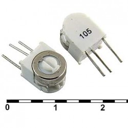Резистор подстроечный 3329X, 100ом, 0.5вт, 10%, 240°, 6.6*8.38*6.1мм, угловой, СП3-19Б
