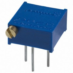 Резистор подстроечный 3296P, 200ом, 0.5вт, 10%, 9000°, 9.53*4.83*10мм, угловой