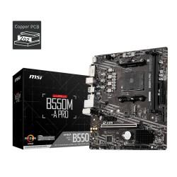 Материнская плата MSI B550M-A PRO (SocketAM4,AMD B550,mATX,2DDR4,ECC/non-ECC,M.2,PCI-E16,PCI-E,DVI,HDMI,PC4600)