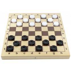 Игра настольная Шашки, Десятое королевство, с доской, пласт. фишки 2862