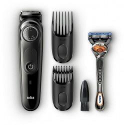 Триммер Braun BT 5242 для бороды и усов, 2 насадки, длина стрижки 0.50-20 мм, время автон.работы 100 мин